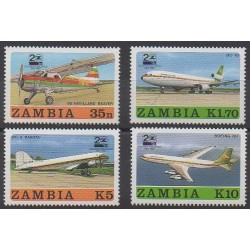 Zambia - 1987 - Nb 416/419 - Planes