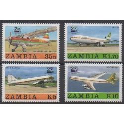 Zambie - 1987 - No 416/419 - Aviation