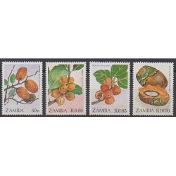 Zambia - 1989 - Nb 469/472 - Fruits or vegetables
