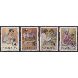 Zambie - 1988 - No 437/440 - Santé ou Croix-Rouge