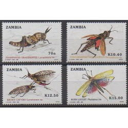 Zambia - 1989 - Nb 473/476 - Insects
