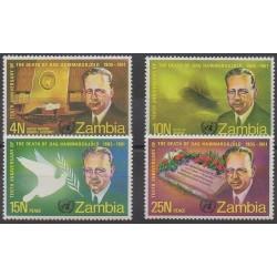 Zambie - 1971 - No 70/73 - Célébrités