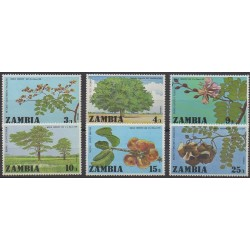 Zambia - 1976 - Nb 154/159 - Trees