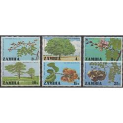 Zambie - 1976 - No 154/159 - Arbres