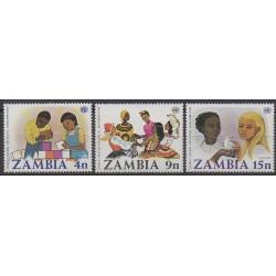 Zambia - 1977 - Nb 174/176 - Childhood