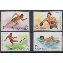 Zambie - 1980 - No 213/216 - Jeux Olympiques d'été
