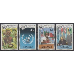 Zambie - 1985 - No 336/339 - Nations unies