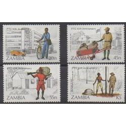 Zambia - 1985 - Nb 332/335 - Postal Service