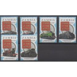 Zambie - 1997 - No 643/648 - Chemins de fer