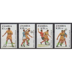 Zambia - 1990 - Nb 502/505 - Soccer World Cup