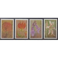 Zambie - 1989 - No 477/480 - Fleurs