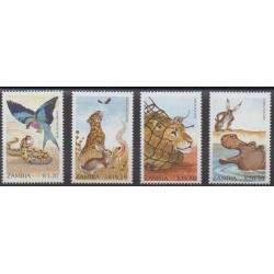 Zambie - 1990 - No 526/529 - Littérature