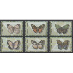 Zambie - 2000 - No 974/979 - Insectes