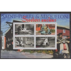 Saint-Pierre and Miquelon - Blocks and sheets - 2018 - Nb F1205 - Motorcycles