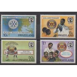 Swaziland - 1985 - No 473/476 - Rotary ou Lions club