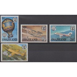 Swaziland - 1983 - No 425/428 - Ballons - Dirigeables - Aviation