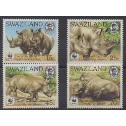 Swaziland - 1987 - No 525/528 - Mammifères - Espèces menacées - WWF