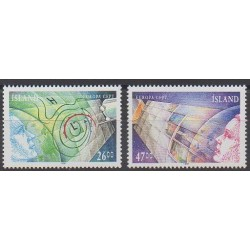 Islande - 1991 - No 695/696 - Espace - Europa
