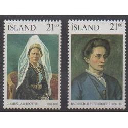 Islande - 1990 - No 677/678 - Célébrités