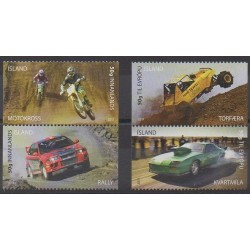 Islande - 2011 - No 1237/1240 - Motos - Voitures