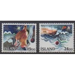 Iceland - 1988 - Nb 648/649 - Christmas