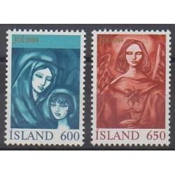 Islande - 1984 - No 579/580 - Noël
