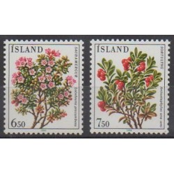 Islande - 1984 - No 572/573 - Fleurs