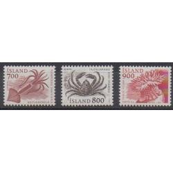 Iceland - 1985 - Nb 589/591 - Sea animals