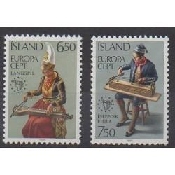 Islande - 1985 - No 585/586 - Musique - Europa