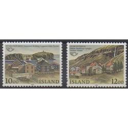 Islande - 1986 - No 603/604 - Sites