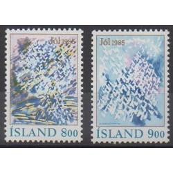 Iceland - 1985 - Nb 595/596 - Christmas