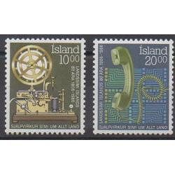 Islande - 1986 - No 611/612 - Télécommunications