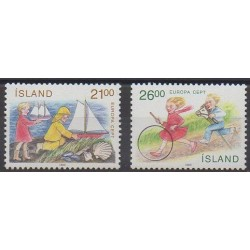 Islande - 1989 - No 654/655 - Enfance - Europa