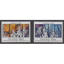 Islande - 1987 - No 618/619 - Architecture - Europa