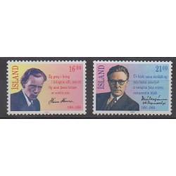 Islande - 1988 - No 633/634 - Célébrités