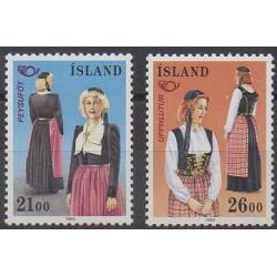 Iceland - 1989 - Nb 652/653 - Costumes - Uniforms - Fashion