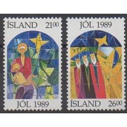 Iceland - 1989 - Nb 665/666 - Christmas