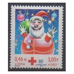 France - Poste - 2001 - No 3436 - Santé ou Croix-Rouge