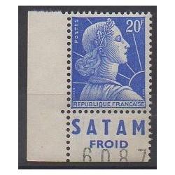 """France - Variétés - 1955 - No 1011Bd avec BP """"SATAM FROID"""""""