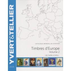 Timbres d'Europe : Volume 2 de Carélie à Grèce (Edition 2019)