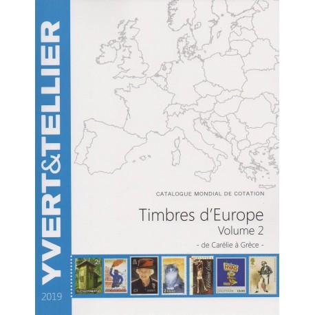 Timbres d'Europe : Volume 2 de Carélie à Hongrie (Edition 2014)