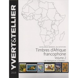 Timbres d'Afrique francophone : Volume 2 de Madagascar à Zanzibar (Edition 2019)