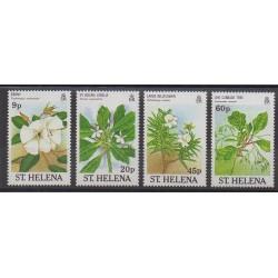 Sainte-Hélène - 1989 - No 491/494 - Fleurs