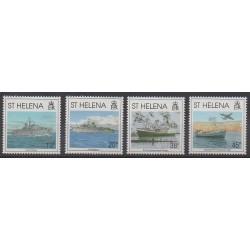 St. Helena - 1992 - Nb 569/572 - Military history - Boats
