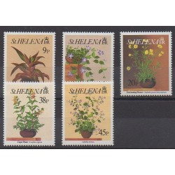 Sainte-Hélène - 1993 - No 581/585 - Fleurs