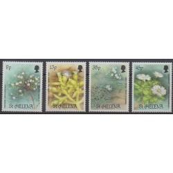 Sainte-Hélène - 1987 - No 466/469 - Fleurs