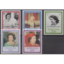 St. Helena - 1987 - Nb 474/478 - Royalty