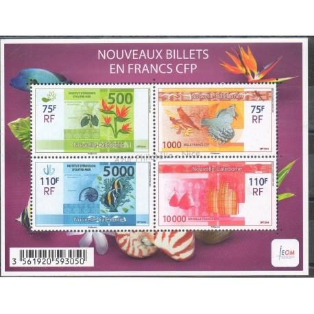 Nouvelle-Calédonie - Blocs et feuillets - 2014 - F1208 - Monnaies et billets