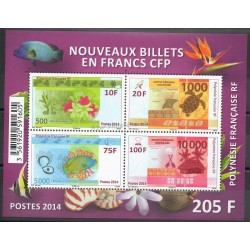 Polynésie - Blocs et feuillets - 2014 - No BF40 - Monnaies, billets ou médailles