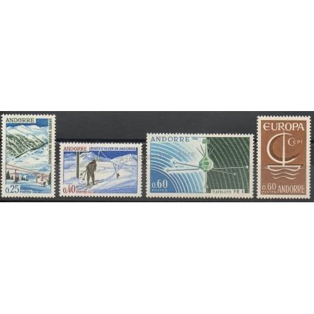 Andorre - Année complète - 1966 - No 175/178